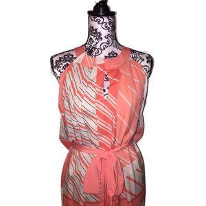 Lane Bryant Striped Maxi Dress 24